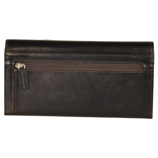 Paris Genuine Oily Women Brown Clutch Wallet - WeMe