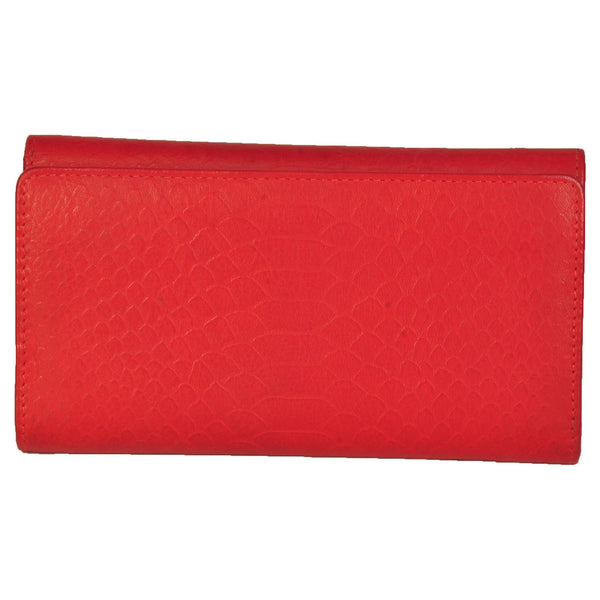 Paris Genuine Croco Women Red Blue Clutch Wallet - WeMe