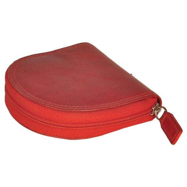 Zen Genuine Leather Unisex Red Coin Purse - WeMe