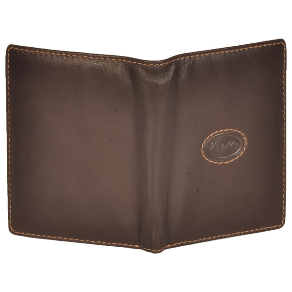 Zen Genuine Leather Unisex Brown Card Holder - WeMe