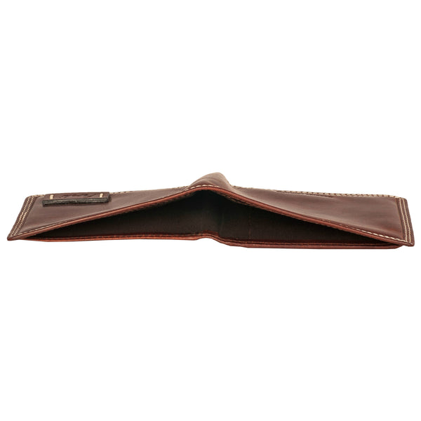 Boston Genuine Leather Men Brown Billfold Wallet - WeMe