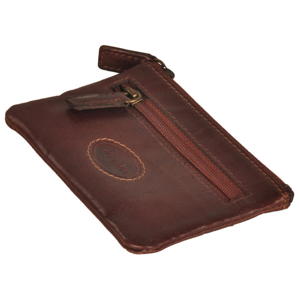 Zen Genuine Leather Unisex Brown Coin Purse - WeMe