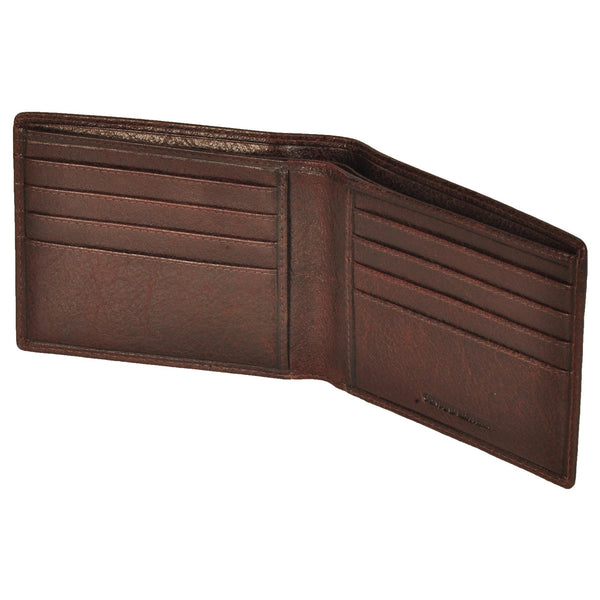 Boston Genuine Oily Leather Men Brown Billfold Wallet - WeMe