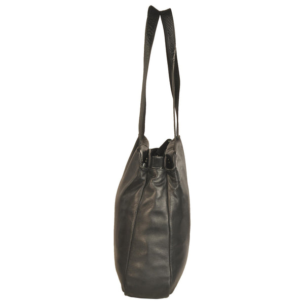 Victoria Genuine Leather Women Black Shoulder Bag - WeMe