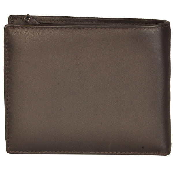 Boston Genuine Waxy Leather Men Brown Billfold Wallet - WeMe