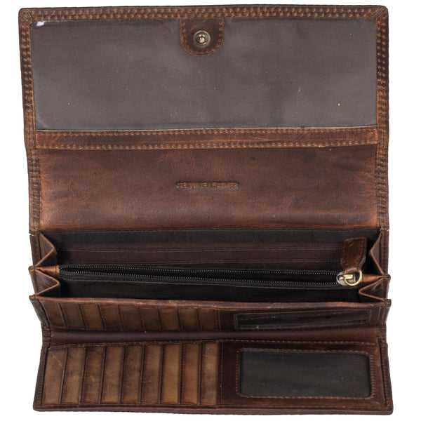 Paris Genuine Leather Women Brown Clutch Wallet - WeMe