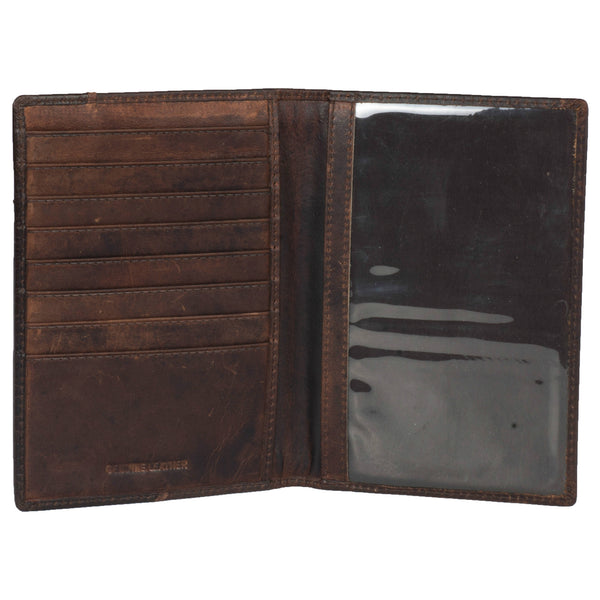 Zen Genuine Leather Unisex Brown Document Holder - WeMe
