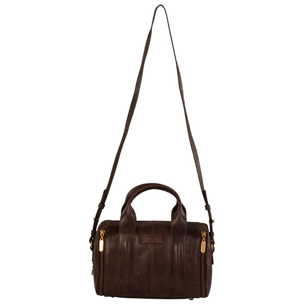 Elle Genuine Leather Women Dark Brown HandBag - WeMe