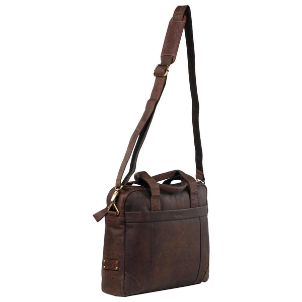 Manhattan Genuine Leather Men Brown Portfolio Bag - WeMe