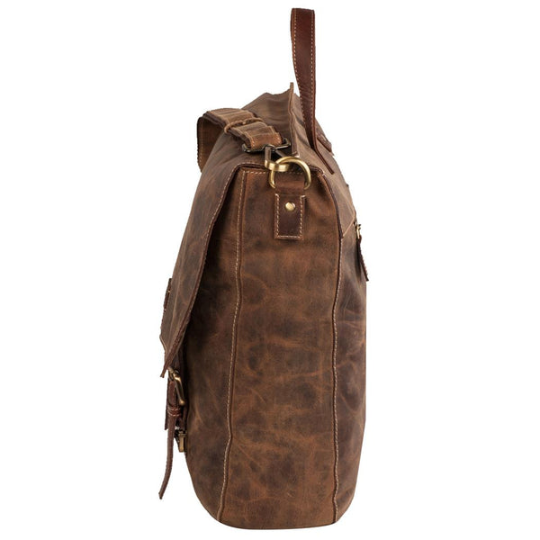 Bradley Genuine Leather Men Brown Messenger Bag - WeMe