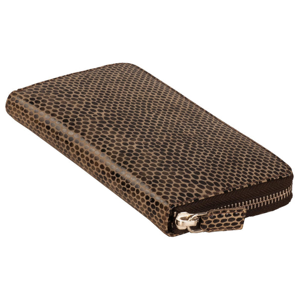Paris Genuine Leather Women Black Lizard Print Clutch Wallet - WeMe