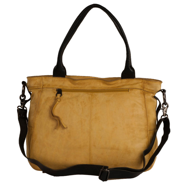 Victoria Genuine Leather Women Yellow Shoulder Bag - WeMe