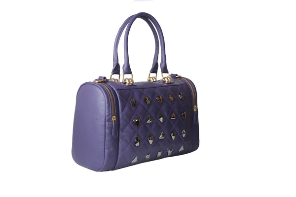 Latest Victoria Genuine Leather Women Purple Handbag - WeMe
