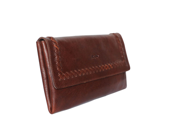 Trendy Victoria Genuine Leather Women Dark Brown Clutch Wallet - WeMe