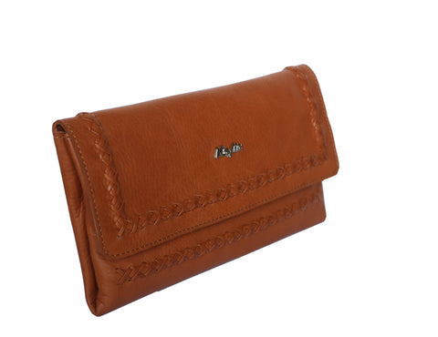 Designer Victoria Genuine Leather Women Tan Clutch Wallet - WeMe