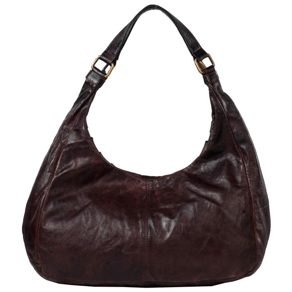 Victoria Genuine Leather Women Brown Hand Woven Shoulder Bag - WeMe