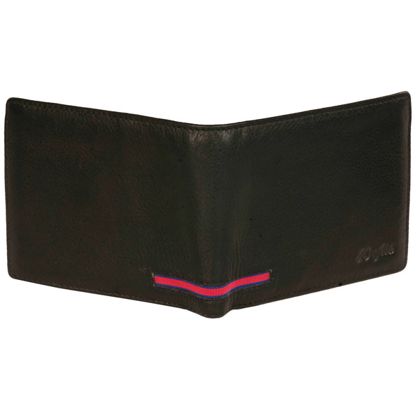 Boston Genuine Leather Men Black Billfold Wallet - WeMe