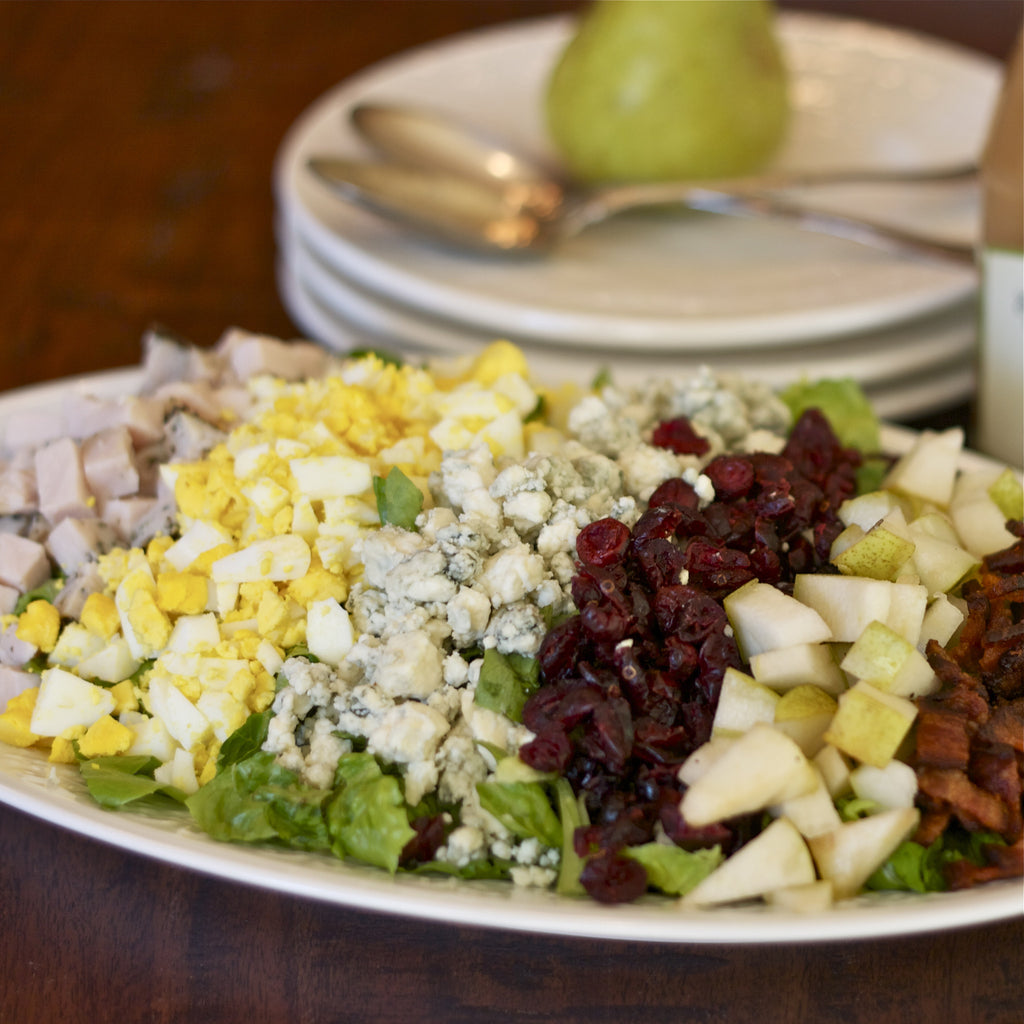 TURKEY & PEAR COBB SALAD (Honey Pear Vinaigrette)