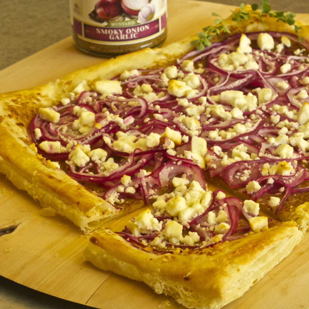 RED ONION & FETA CHEESE TART (Smoky Onion Garlic Mustard)