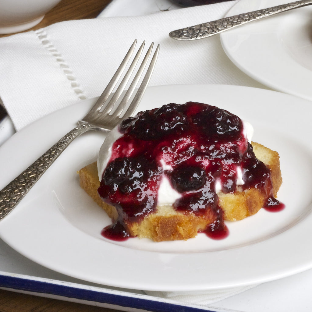 BERRY JAM POUND CAKE (STRAWBERRY BLUEBERRY JAM)