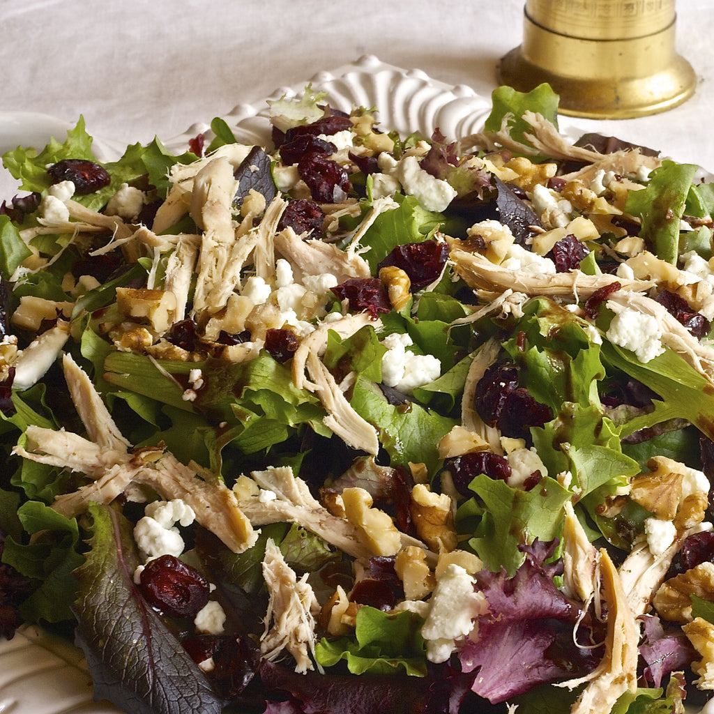 BABY GREENS & CHICKEN SALAD (Raspberry Shallot Vinaigrette)