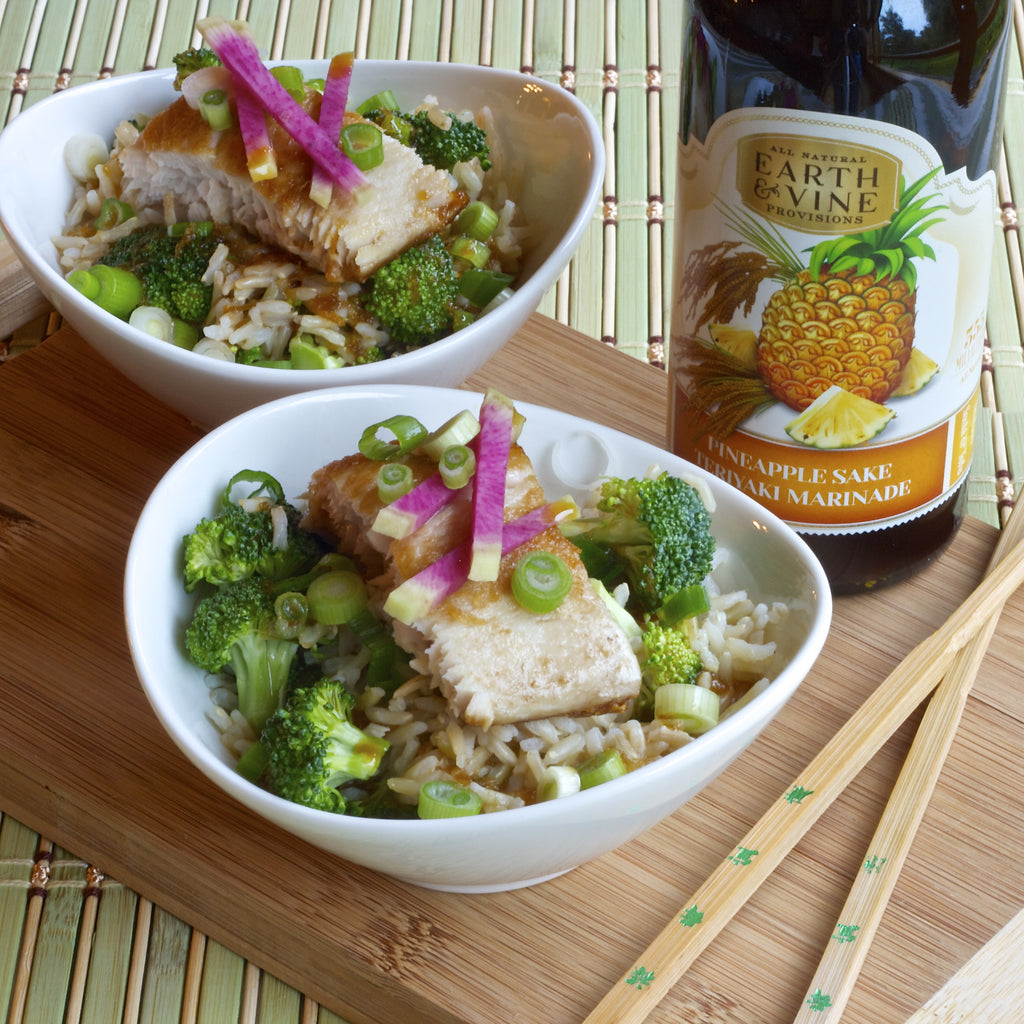 MAHI MAHI TERIYAKI BOWL (Pineapple Sake Teriyaki Marinade)