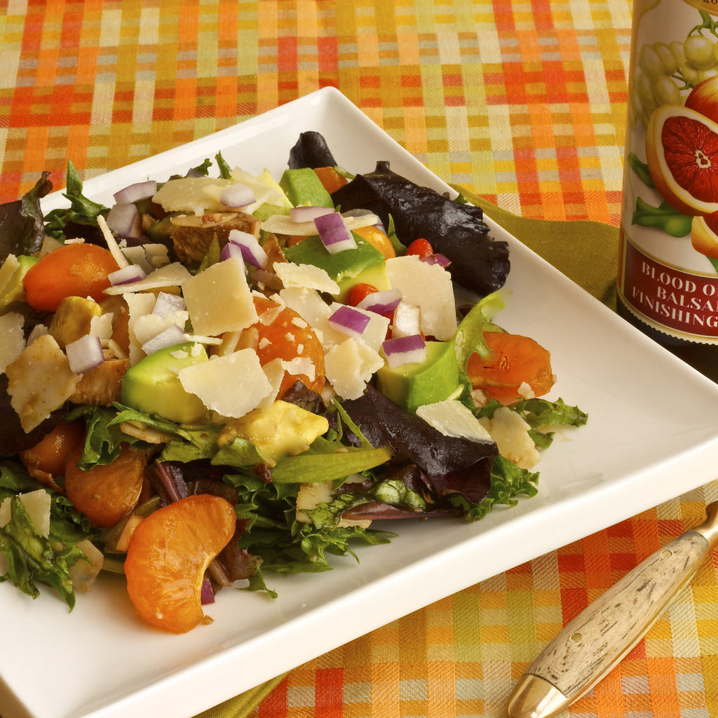 CALIFORNIA CITRUS CHICKEN SALAD (Blood Orange Balsamic Finishing Sauce)