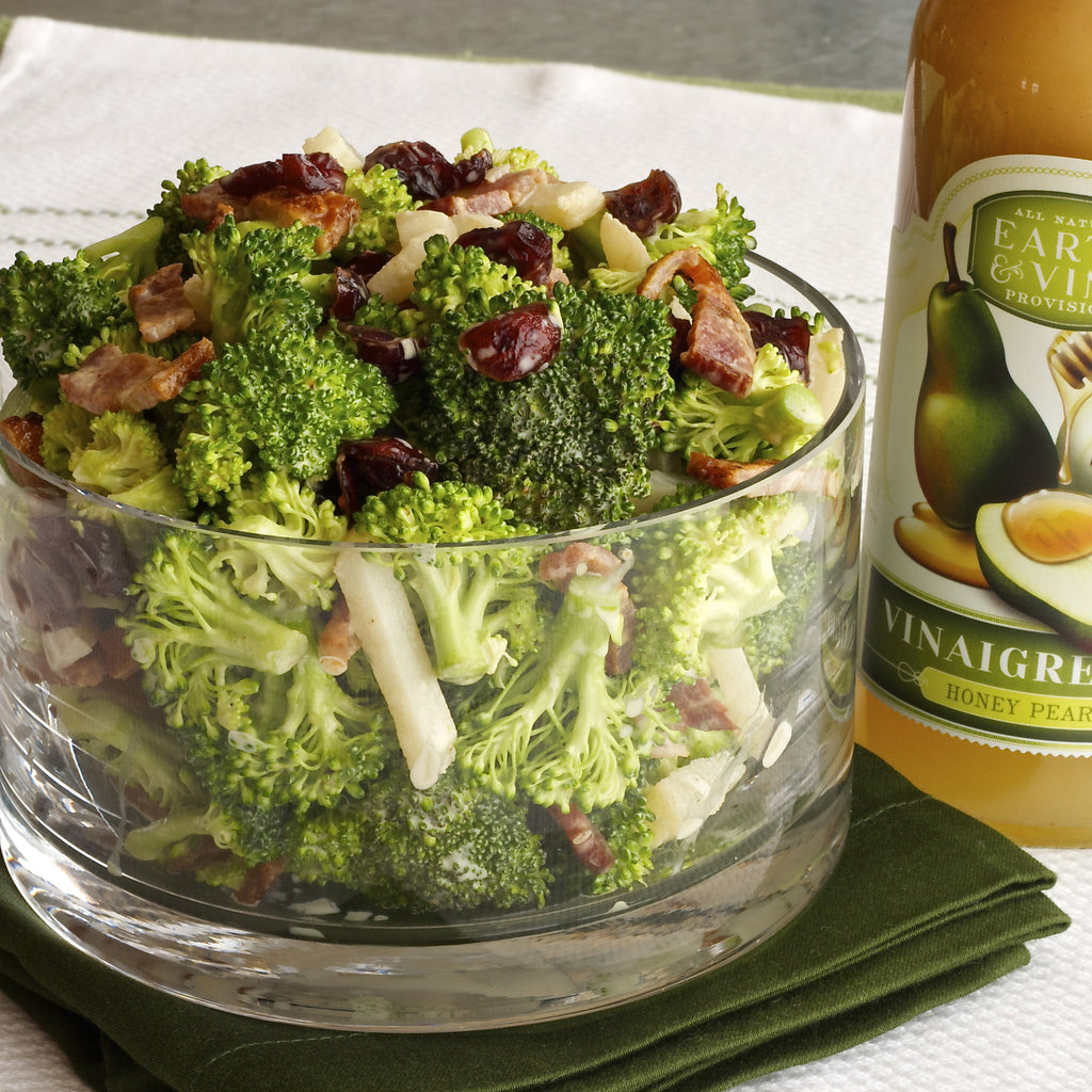 BROCCOLI BACON SALAD (Honey pear Vinaigrette)
