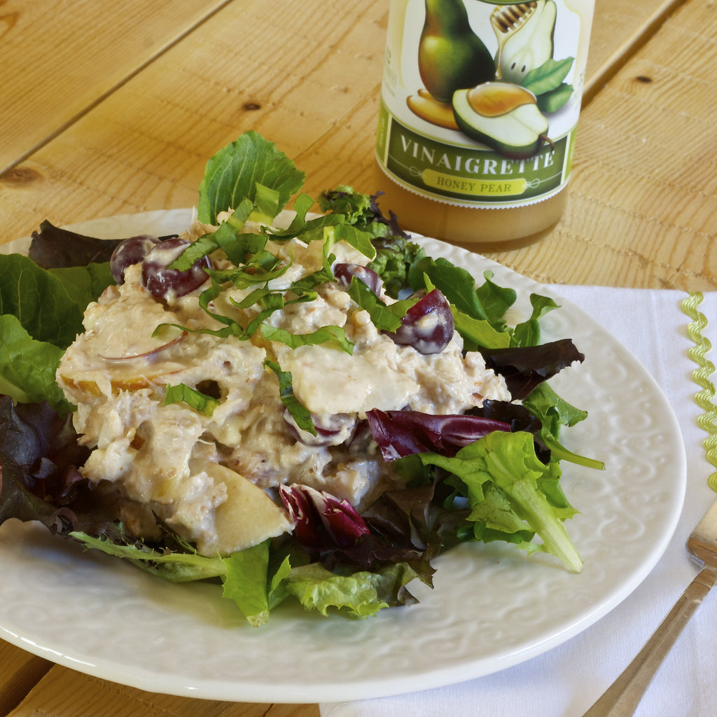 CRAB & APPLE SALAD (Honey Pear Vinaigrette)