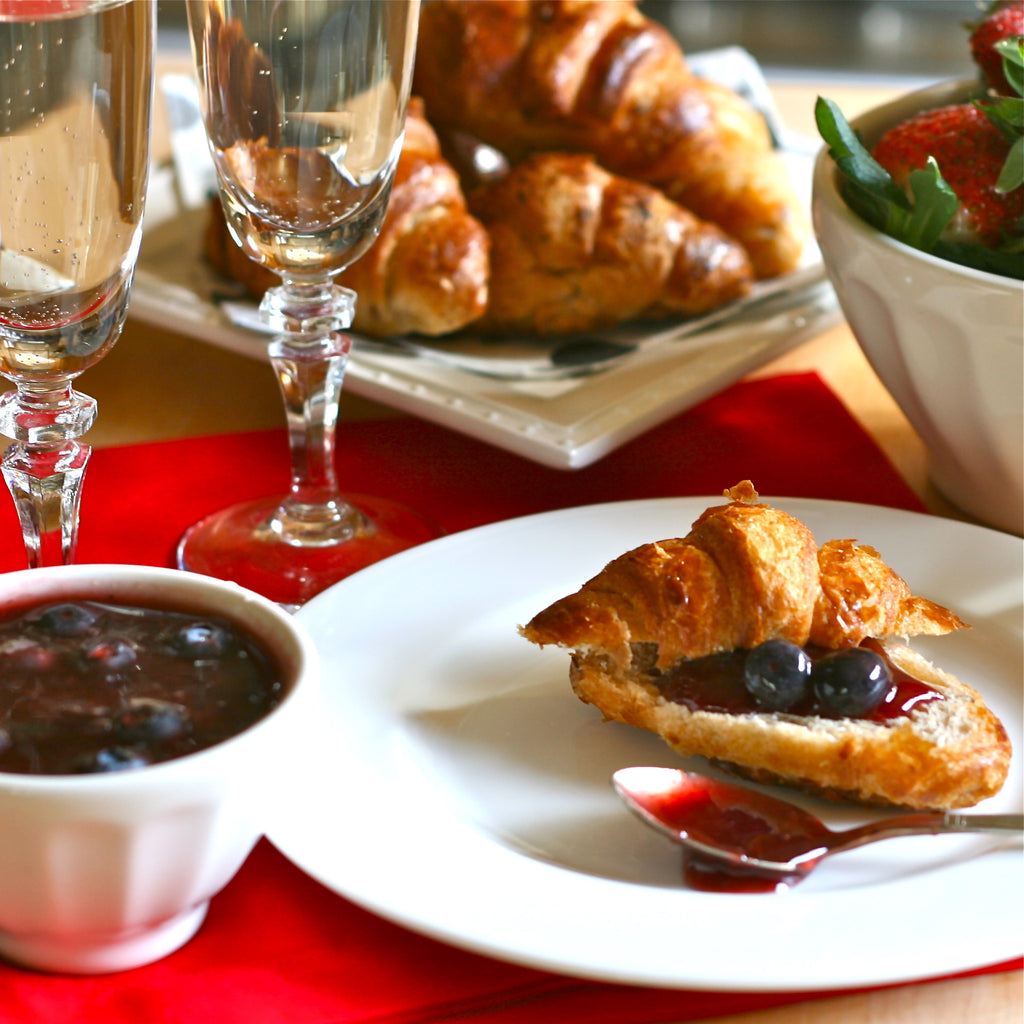 CROISSANTS WITH BERRY JAM (Strawberry Blueberry Jam)
