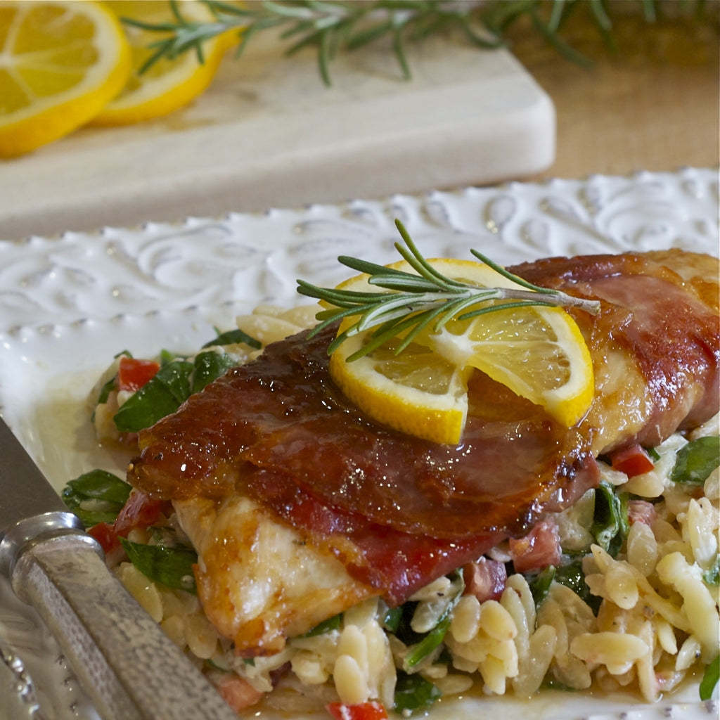 CHICKEN SALTIMBOCCA (Meyer Lemon Rosemary Marinade & Dressing)