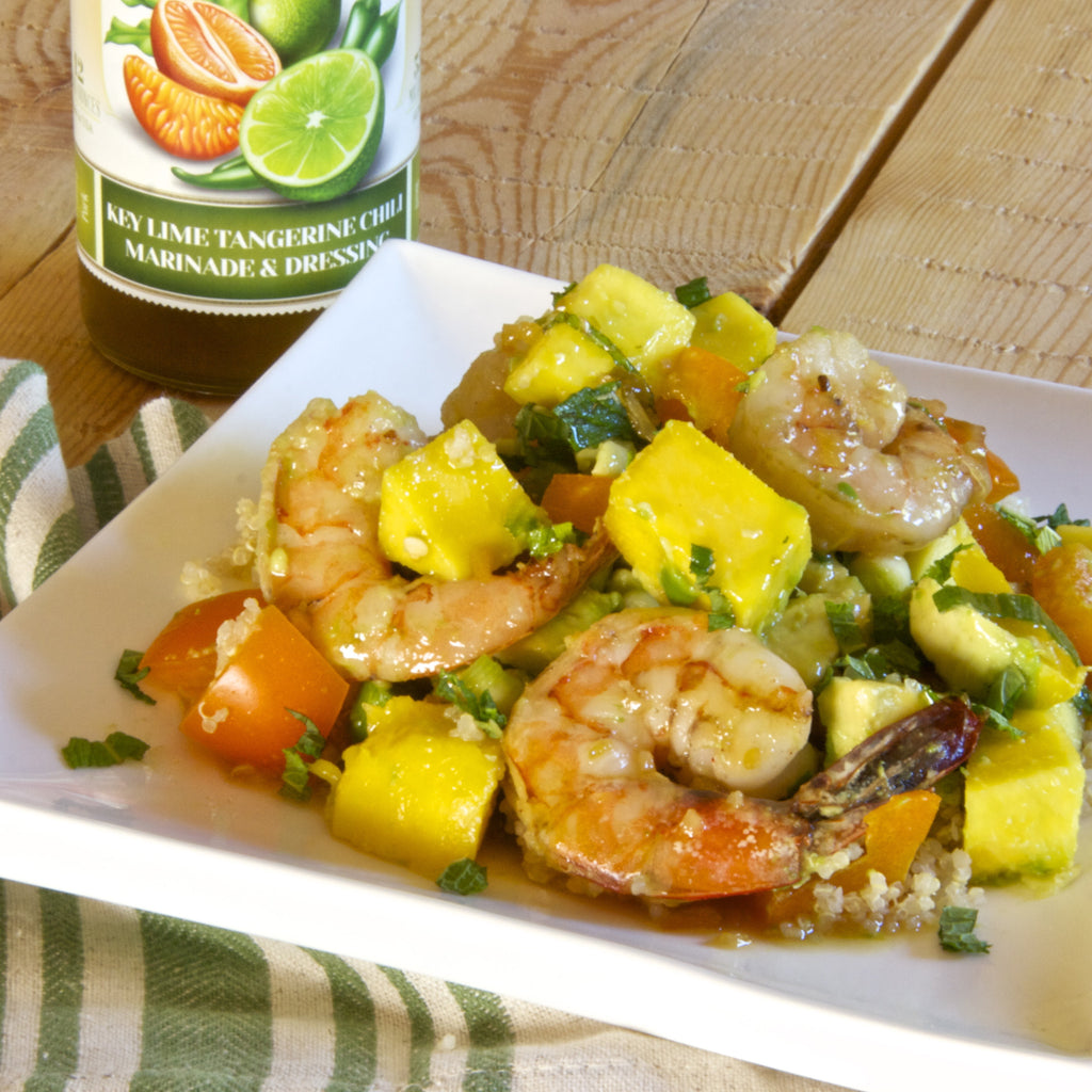 PRAWNS & MANGO (Key Lime Tangerine Chili Marinade & Dressing)