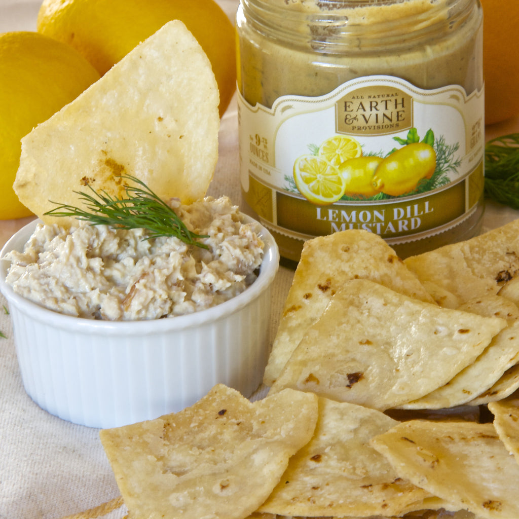 SMOKED TROUT LEMON DILL DIP (Lemon Dill Mustard)