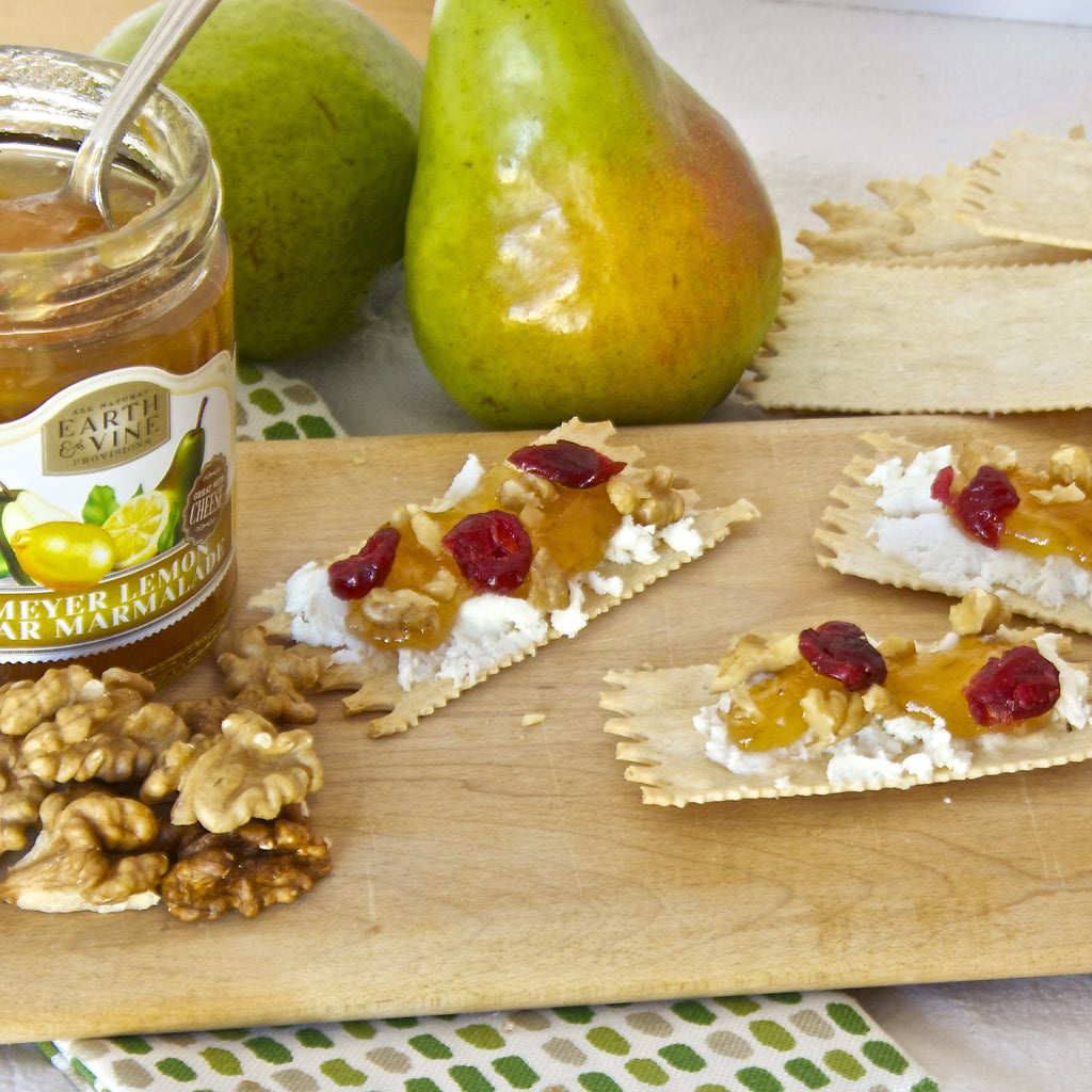 CRACKERS & CHEESE with MEYER LEMON PEAR MARMALADE (Meyer Lemon Pear Marmalade)