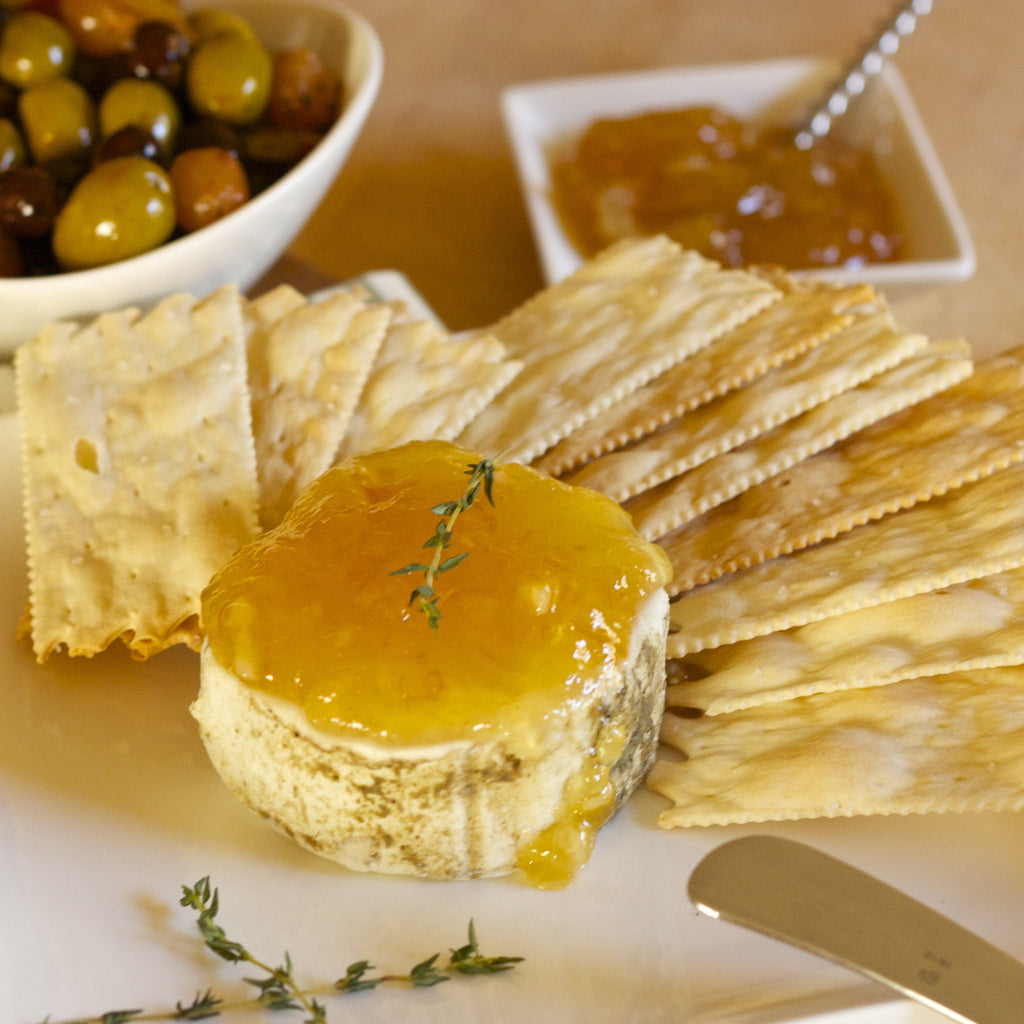 GOAT CHEESE APPETIZER (Meyer Lemon Pear Marmalade)