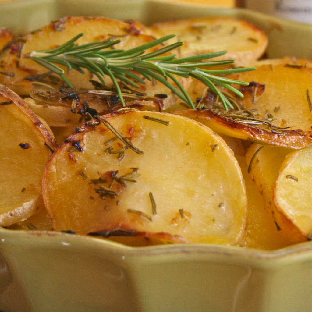 MEYER LEMON SCALLOPED POTATOES (Meyer Lemon Rosemary Marinade & Dressing)