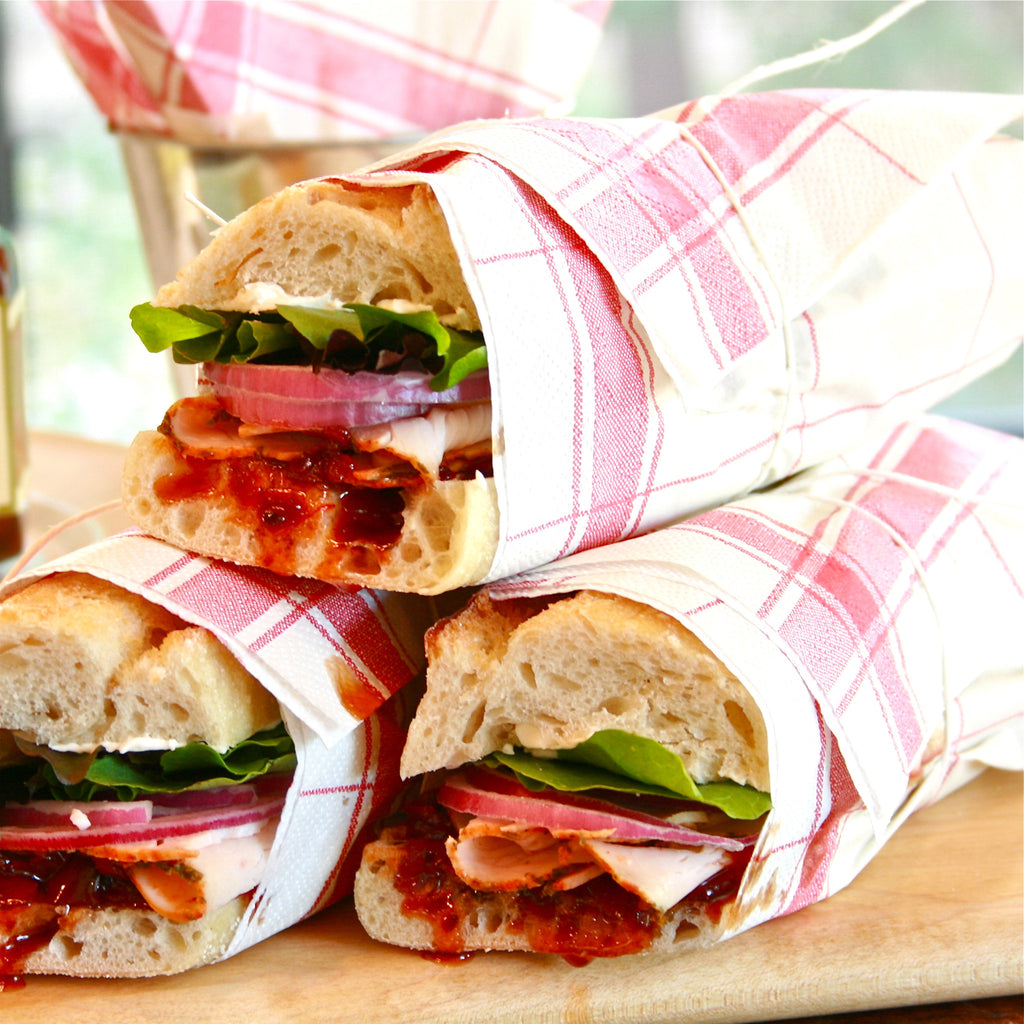 TURKEY SANDWICH (Red Bell Pepper Ancho Chili Jam)