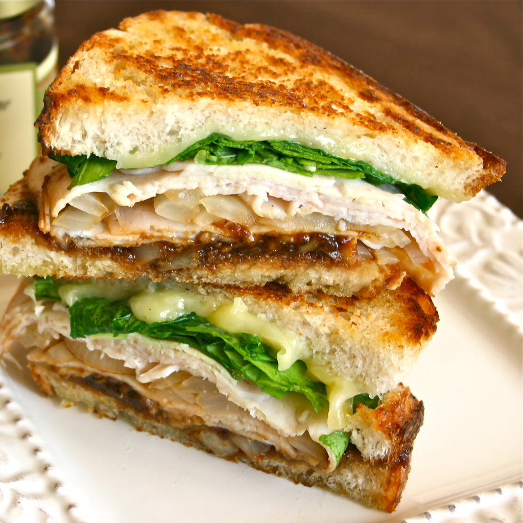 GRILLED TURKEY & PEPPER JAM SANDWICH (Red Bell Pepper Ancho Chili Jam)