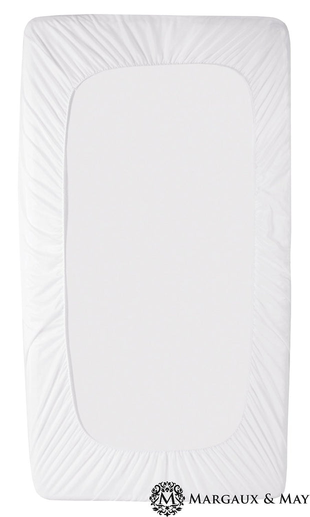 Ultra Soft Waterproof Bamboo Crib Mattress Protector Pad by Margaux & May