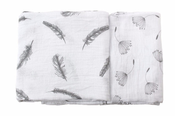 gray swaddle blankets