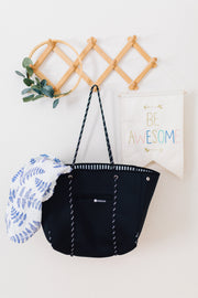 Minimalist Neoprene Tote Bag - Black