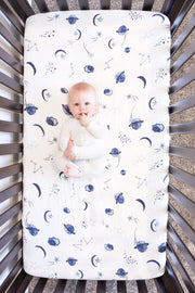 Muslin Cotton Fitted Crib Sheet - Space Design