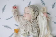 Organic Swaddle Blankets - Grey Feather & Dandelion