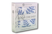 blue crib sheet in package