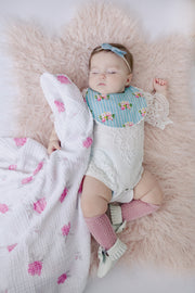 Muslin Swaddle Blankets - Pink & Purple Flowers