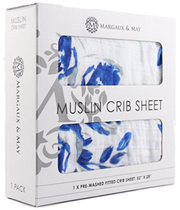 muslin cotton crib sheet packaging