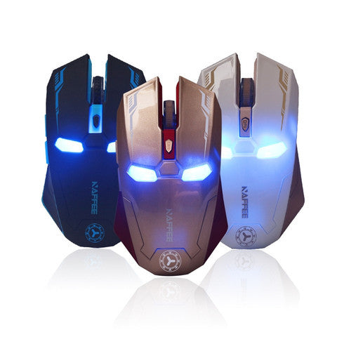 Iron Man Wireless Mouse with Avengers Mouse Pad - Titan Design & Technology - 1