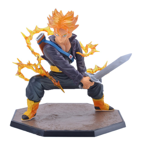 Dragon Ball Z: Super Saiyan Trunks Battle Version 14cm Figure [Bandai]