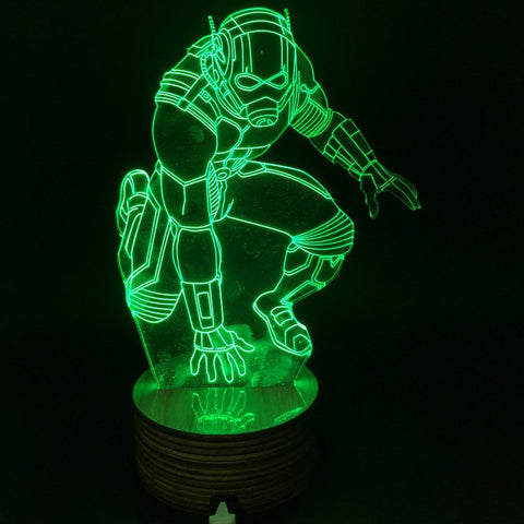Ant Man Marvel 3D Night Light - Titan Design & Technology - 1