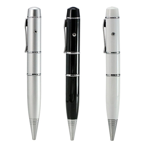 Ballpoint Pen with Laser Light USB 2.0 Flash Drive - Titan Design & Technology - 1